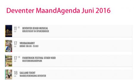 maand agenda deventer juni